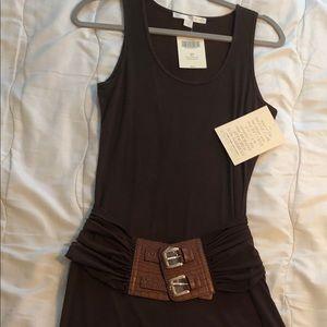 Boston Proper Brown belted dress